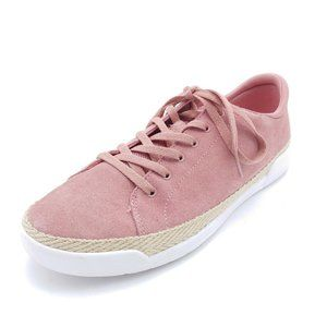 Ryka Womans Olyssia Lace Up Sneakers Pink Suede